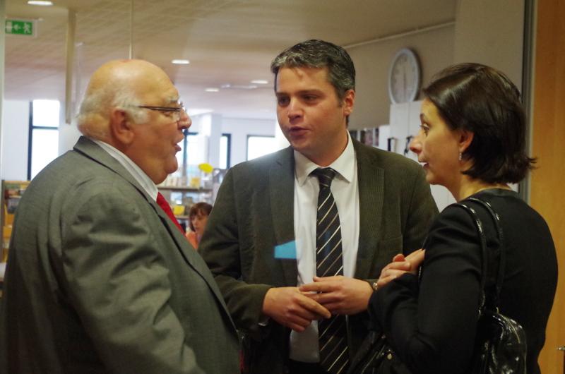 Alphonse Romano, Président ACFI, Julien Freyburger, Maire de Maizières,  et Isabelle Rauch, Conseillère et Vice Présidente du Conseil Départemental