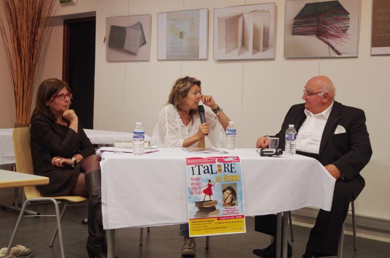 Ornella Piccirillo-Hahn, Simonetta Greggio et Alphonse Romano